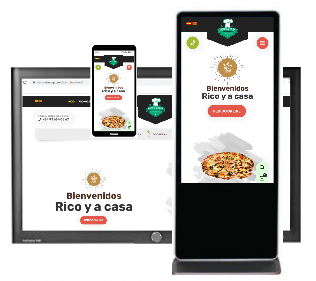 tactil pedidos online restaurante