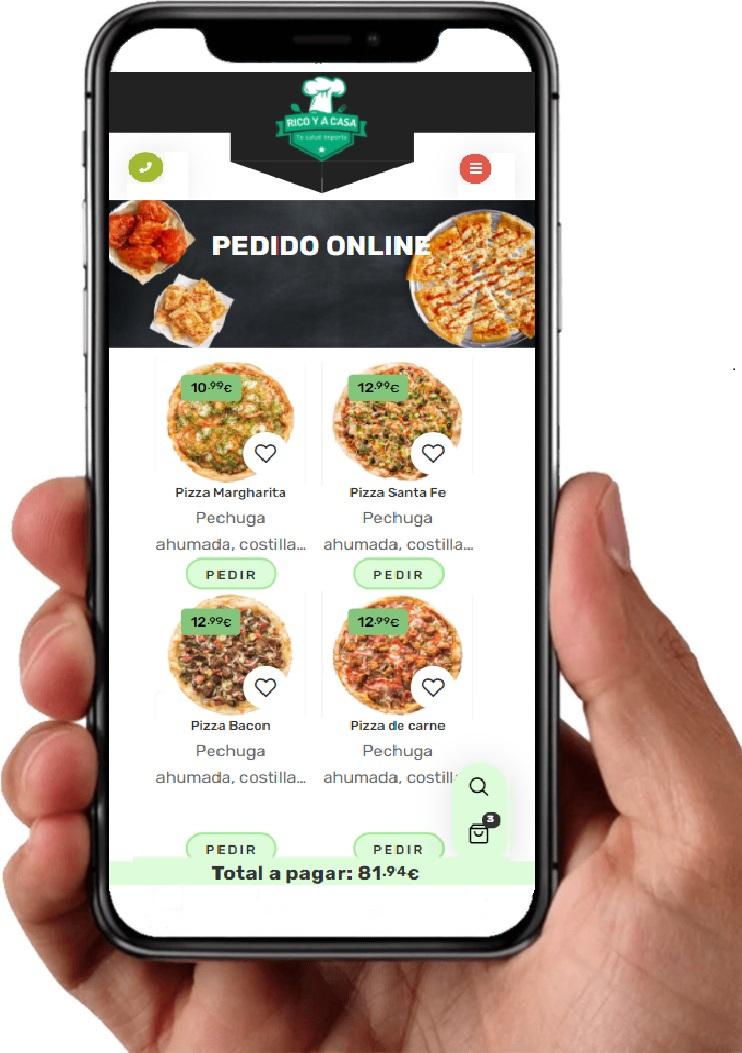 aplicacion web pedidos online restaurante